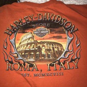 Roma Italy Harley Davidson shirt